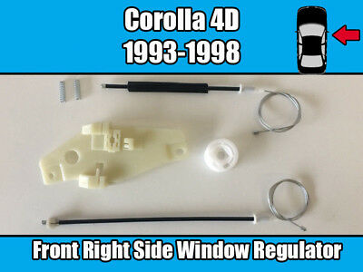 Toyota Corolla 4D 1993-1998 Front Right Window Regulator Replacement Repair Kit
