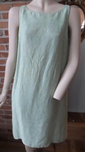 Vtg Giorgio Armani Dress Pale Mint Green Patterned