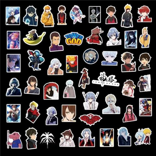 Details about  /50Pcs TOWER OF GOD Stickers Skateboard Fridge Guitar Laptop Motorcycle Luggage