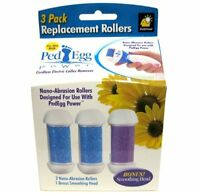 2 Pack- Ped Egg Power Replacement Rollers - Callus Remover Nano-abrasion Rollers