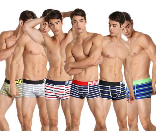 Pink Hero 2019 Men/'s Underwear Comfortable Underpants Boxer Cotton Striped Brief
