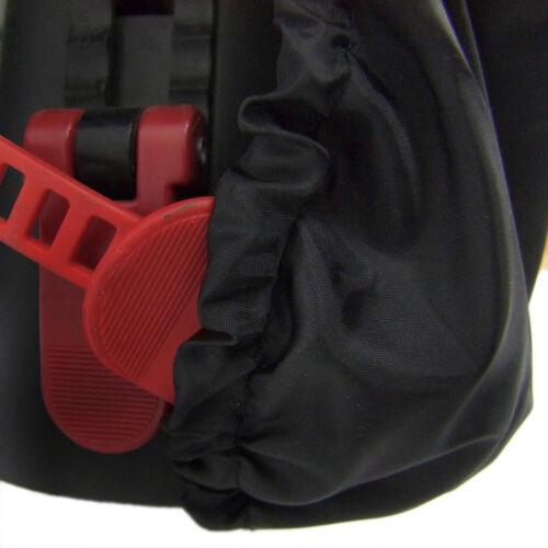 Bambiniwelt Pluie Protection//De Pluie Pour Enfants ROMAINS Vélo sièges Uni-Noir.