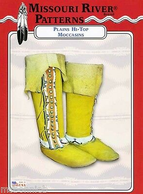 Missouri River Plains Style Hi-Top Moccasins Boots Men Women Size Sewing Pattern