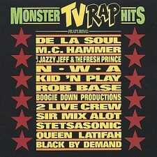 VA--MONSTER TV RAP HITS--CD--Rob Base, De La Soul, Boogie Down Productions, NWA
