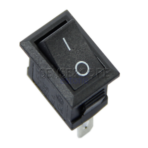10pcs AC 6A//250V 10A//125V 3 Pin Terminal On-Off Boat Switch Black Rocker