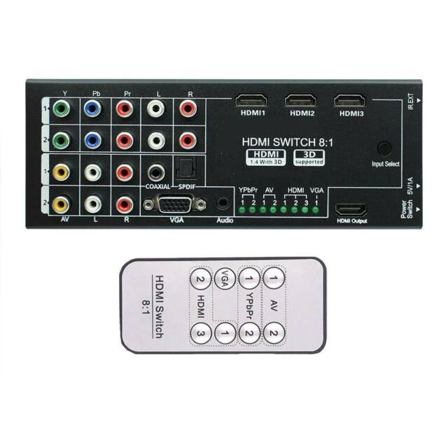 Digital Latest Generation Multi-Functional HDMI Audio Extractor With 8 Inputs