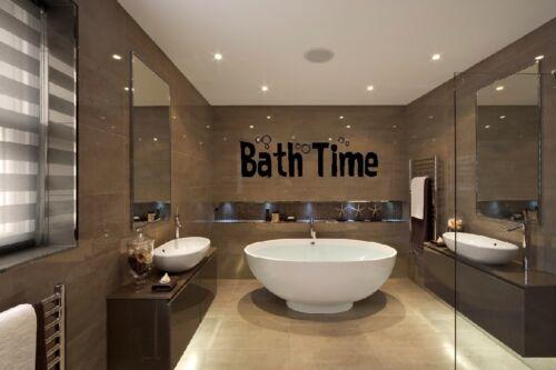 Bath Time Citation Wall Art Autocollant Accueil Room Decor Decal Q60