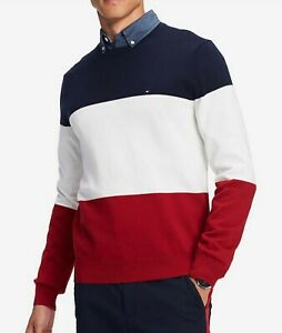 abcb02177cf Image is loading Tommy-Hilfiger-Men-039-s-Navy-Blazer-Colorblock-