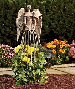 26-039-039-H-Antiqued-Metal-Garden-Angel-Lawn-Yard-Patio-Statue-Outdoor-Yard-Art-Decor