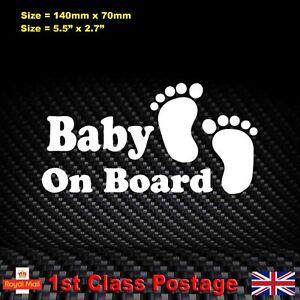 Baby-On-Board-Sticker-Funny-Child-Children-Car-Window-Windscreen-Vinyl-Decal
