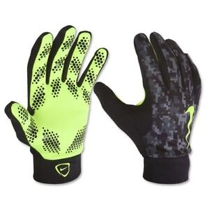 Image is loading NIKE-HYPERWARM-FIELD-PLAYER-GLOVES-TRAINING-SOCCER-Black-
