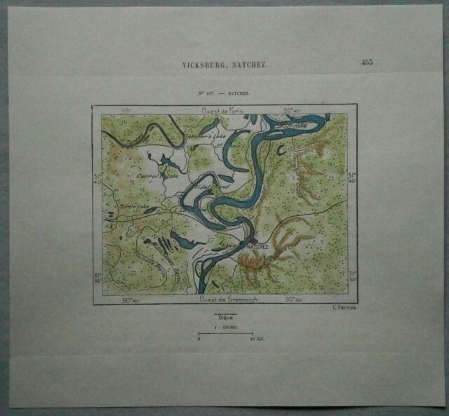 1892 Perron map NATCHEZ, MISSISSIPPI (#117)