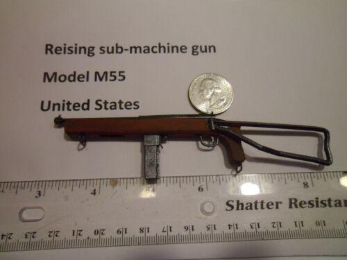 1//6 guerre mondiale deux faits maison Reising Sub-MACHINE GUN Open Stock modèle M55 États-Unis