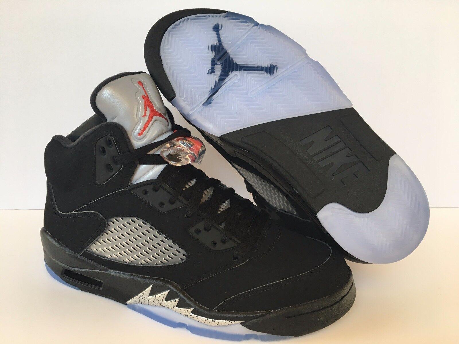 Nike air jordan uomini 5 retrò og scarpe rosso bianco d'argento 845035 003 sz 7