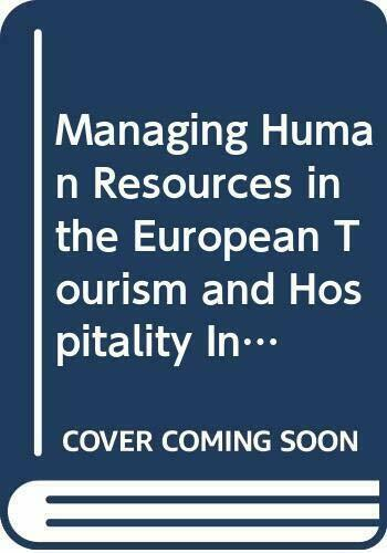 Managing Human Resources in the European Tourism and H... by Baum, Tom Paperback