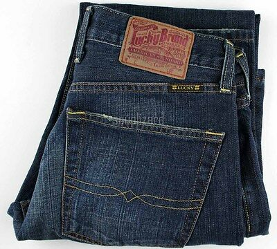 New Lucky Brand Men Jeans Button Fly 221 Slim Fit Straight Leg 29 31 32 34 36 40
