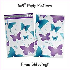 25 400 Pack 6x9 Butterfly Designer Poly Mailers Self Seal Adhesive Freeship