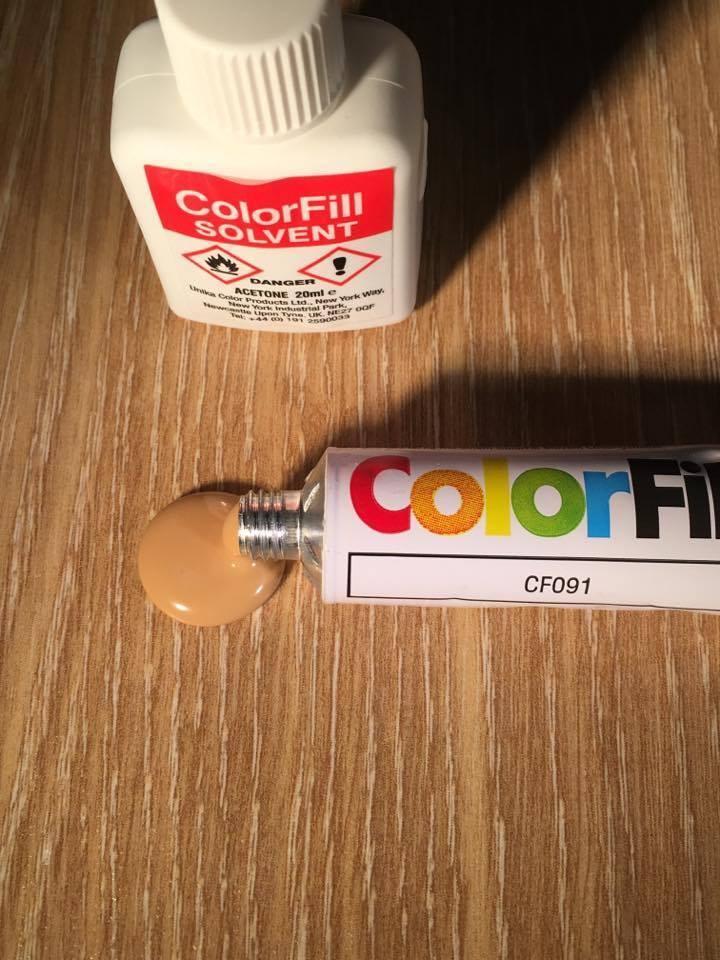 Laminate Wood Flooring Kitchen Worktop Repair Sealant Colorfill Golden Oak