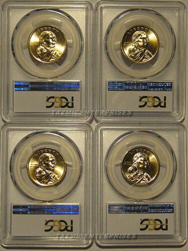 2016 P /& D Native Sacagawea Dollar 4 Coin Set $1 PCGS MS66 Position A /& B