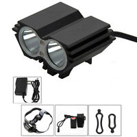 SolarStorm 5000 LM X2 CREE T6 LED Mountain Bicycle Bike Headlight Cycling Light