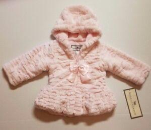 4179317fe AMERICAN WIDGEON INFANT OR TODDLER GIRLS EASTER FAUX FUR COAT HOOD ...