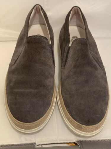 TODS MENS SHOES SUEDE GRAY ESPADRILLES SHOES ITALY