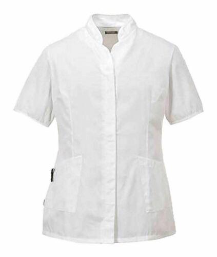 Womens Stand Collar Tunic Top Ladies Salon Beautician Nail Massage Therapist Top