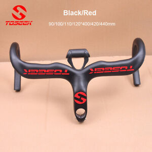 TOSEEK Carbon Fiber Road Bike Handlebar Bicycle Drop Bar 31.8*400//420//440mm