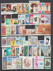 Mexico Sc C553/C636 MNH. 1978-80 Air Mail issues, 39 complete sets, VF