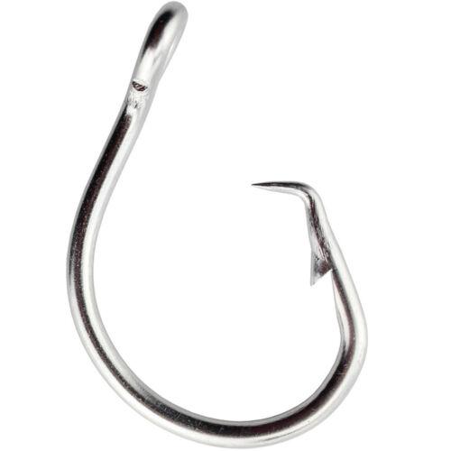 10pcs Stainless Steel Circle Tuna Fishing Hook Big Game Saltwater Hook 39960D