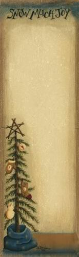 "FOLK ART NOTEPAD # 3535 PRIMITIVE /"" SNOW MUCH JOY /"""