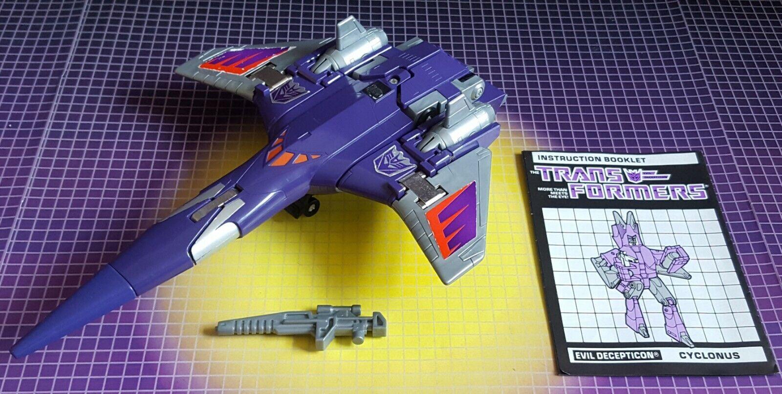 Vintage Hasbro Transformers G1 Decepticon Jet Cyclonus Complete w Instructions