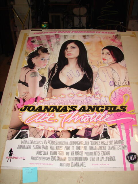 Joanna's Angels DVD Adult film Promo video poster movie autographed 20x30