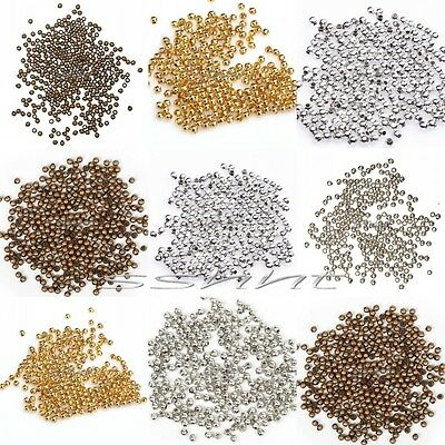 Wholesale Silver/Golden/Copper Tone Metal Spacer Beads Findings for Craft 2mm