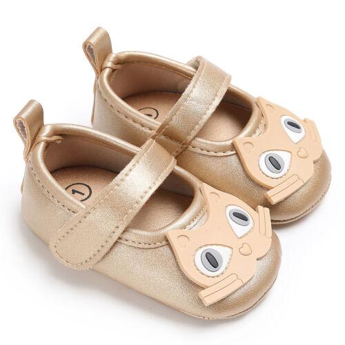 Fashion Cat Animal Print Mary Jane Baby Boy Girl Soft Sole No-slip Crib Shoe