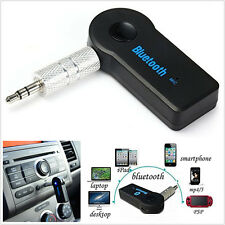 Wireless Bluetooth Audio Stereo Music Player Car Receiver Adapter Mic 3.5mm AUX