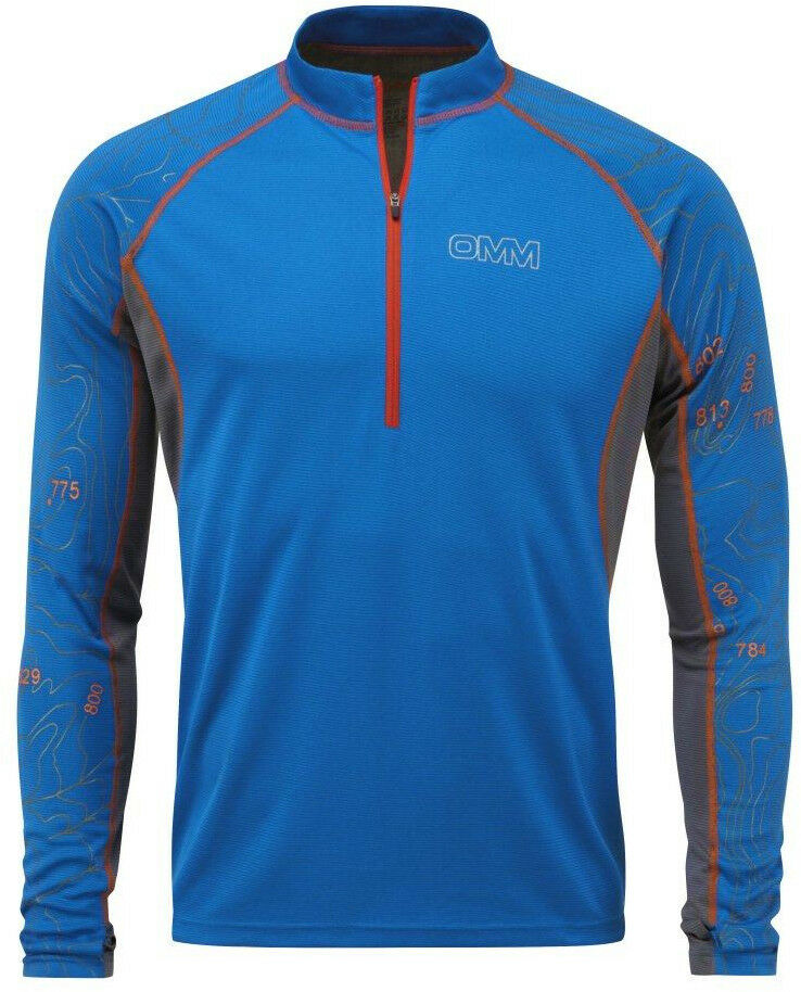 OMM Grid Long Sleeve Half-Zip  Herren Running Top - Blau