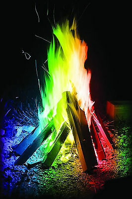 Long Lasting Campfire Flames for Wood Burning Fires Colorful Flames Safe Fire Colorant for Indoor or Outdoor Use AUOKER Magical Flames 5 Pack