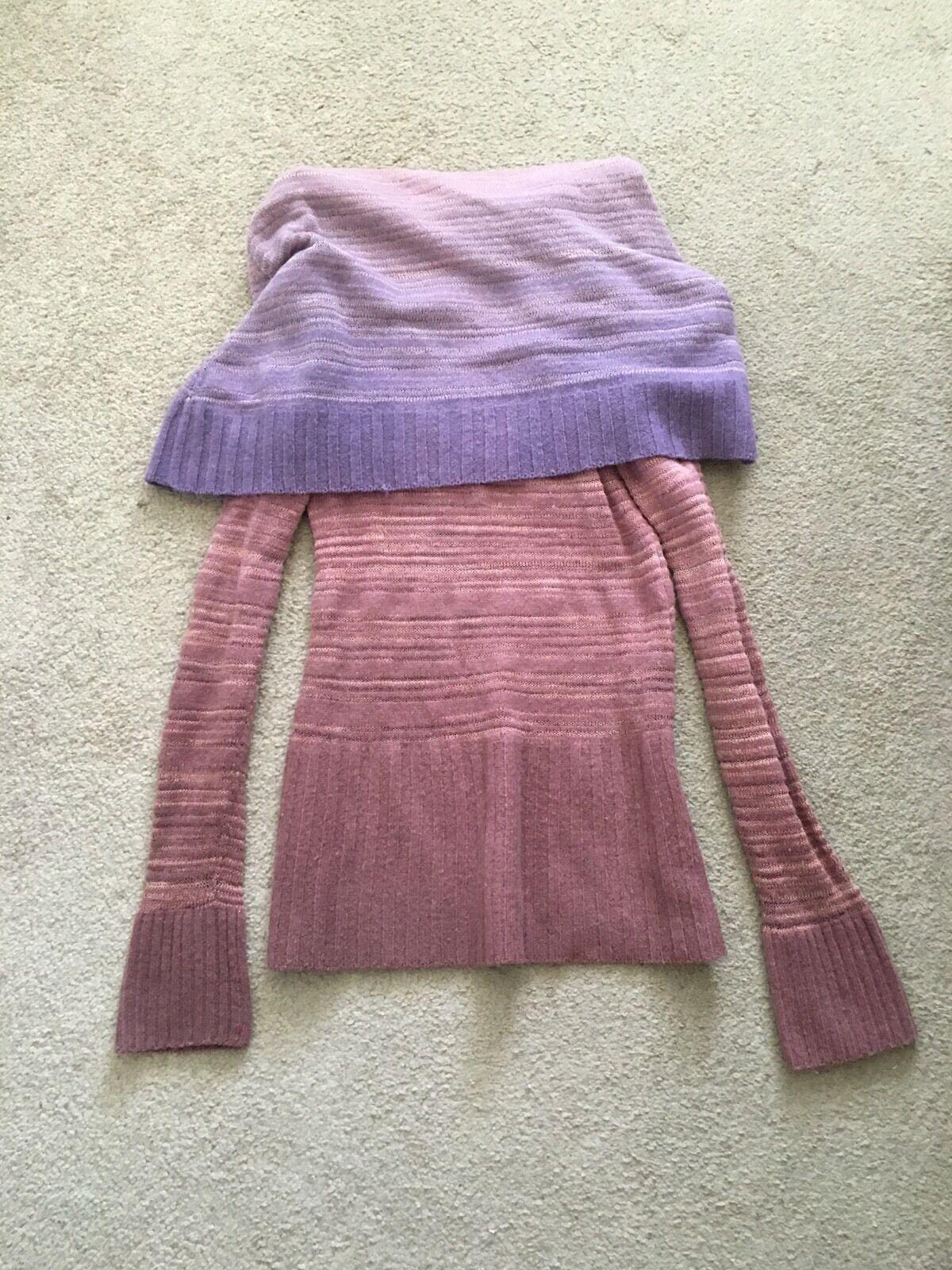Anthropolgie Moth Purple Pink Mauve Draped Sweater