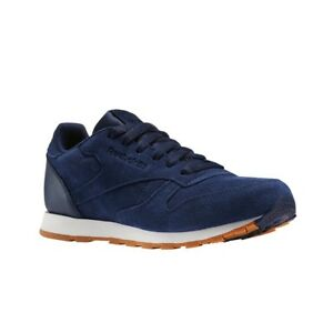 42504388198 Details about Reebok Classic Leather Sg (COLLEGIATE NAVY) Grade School Kids  Shoes BS8949