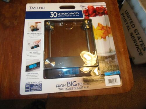 NEW Taylor 30 Pound High Capacity Ultra Precise Kitchen Scale RM-2-BLK-23