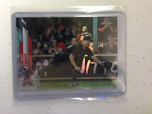 2020 Topps Chrome MIKE TROUT VARIATION REFRACTOR SP RARE #1 ANGELS Poss. PSA 10