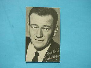 1947-66-TELEVISION-amp-ACTORS-EXHIBIT-CARD-PHOTO-JOHN-WAYNE-SHARP-EXHIBITS
