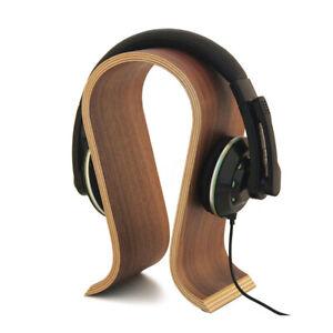 U-Shape-Wooden-Headphone-Stand-Supports-Headset-Holder-Desk-Display-Hanger-Rack
