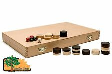 BACKGAMMON - Large 46cmm / 18.1in Handcrafted Wooden Backgammon