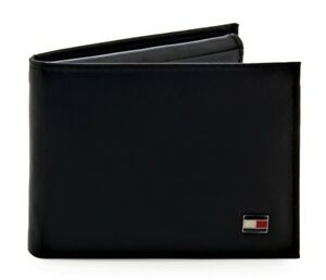 dd80c45f257 Tommy Hilfiger Men s Genuine Leather Oxford Bifold Wallet Black ...