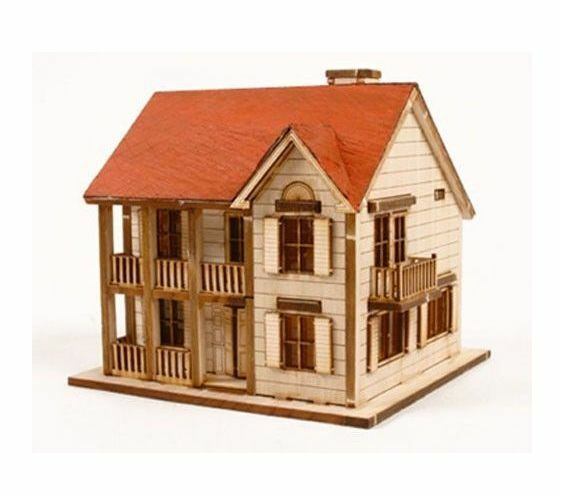 "WOODEN MODEL KIT ""Western House A"" / youngmodeler"
