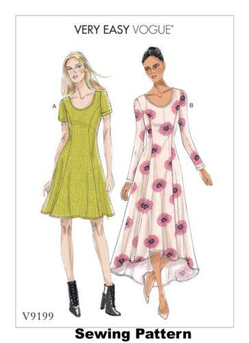 Brand New Misses Dress Vogue V9199 Very Easy PATTERN 6-22
