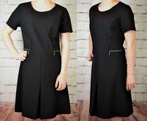 NEXT-NEW-TAGGED-28-LADIES-BLACK-WORKWEAR-DRESS-282-576