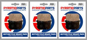 Front & Rear Brake Pads (3 Pairs) for Kawasaki Z 750 GT 1982